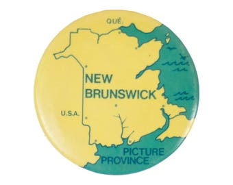 """2"""" New Brunswick map pin"""