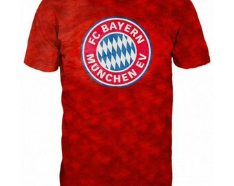 New ultramodern 3D  High Quality  Print Fans  Bayern Munchen red short Sleeve t-shirt