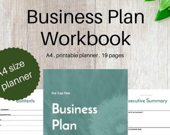 BUSINESS PLAN WORKBOOK - Small Business Printable Planner