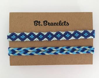 Set of two friendship bracelets bracelets blue 2.00