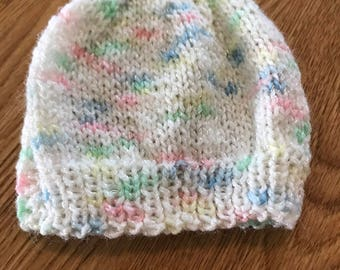 Premie infant knit hat
