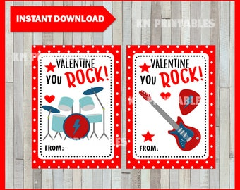 It is a graphic of Fabulous You Rock Valentine Printable