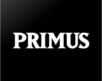 PRIMUS Vinyl Decal Car Window Guitar Laptop Rock / Metal Band Sticker