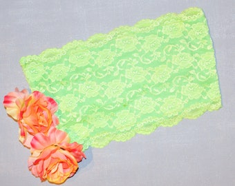 Neon green lace crop top/bandeau.