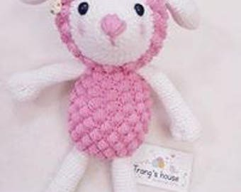beautiful crochet handmade sheep