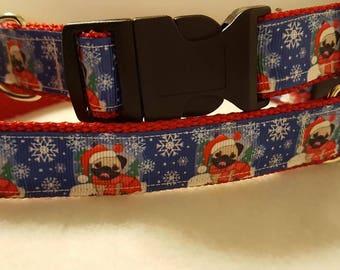 Pug Christmas Collar