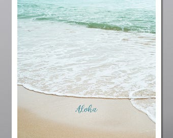 Hawaiian beach, Aloha, photo, picture, wave, beach, white wash, Hawaiian photo, card