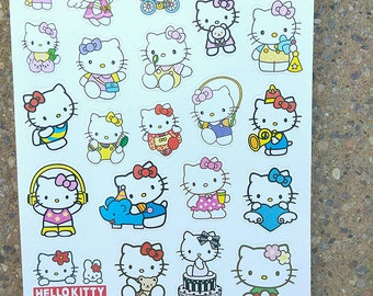 26 assorted hello kitty stickers scrapbook and stationery stickers