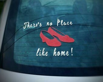 Ruby red slippers decal for car window
