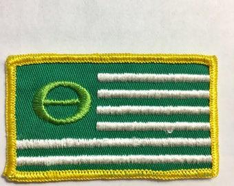 ECOLOGY Symbol Patch Flag CONSERVATIONIST NATURALIST L@@K Mint