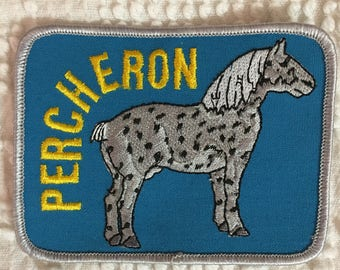 PERCHERON HORSE Patch Detailed Stitching Mint Condition Agriculture Ranch SHOW