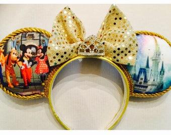 Mickey and Friends Disney Castle Crown Ears
