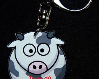 COW Keychain with name or text