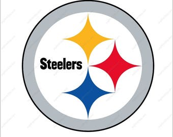 Pittsburgh Steelers svg Cutting File in Dxf Eps Png Ai for Studio for Cricut & Silhouette Digital File Pittsburgh Steelers logo