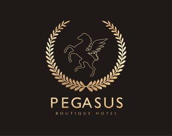 Premade Logo Design, Hotel Logo, Pub Logo Design, Restaurant Logo, Gold Logo, Luxury Logo