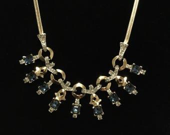 INCREDIBLE  MAZER Sapphire Drops Necklace Bib