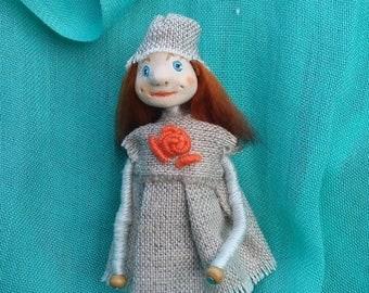 Miniature doll brooch Primitive brooch Art doll brooch OOAK art doll Primitive doll brooch Handmade doll brooch Beautiful brooch