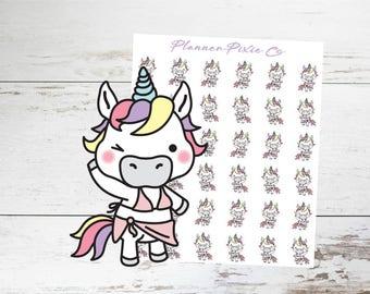 Unicorn Planner Stickers // Bathing Suit // Swim