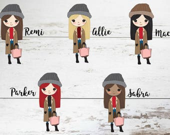 Cold Weather // Fall Fashion // Planner Girl Stickers // Deco planner Stickers