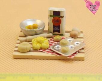 Dolls House Miniature Bread Making Set