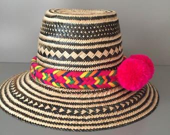 Pom pom sun Panama hat
