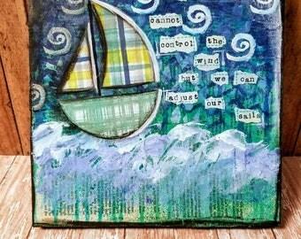 Boat Mixed Media Art Print