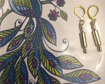 Rolling pin earrings