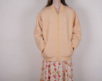 Silk quilted bomber , size XL