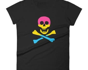 Pansexual Pride Pirate Women's short sleeve t-shirt short sleeve t-shirt lgbt lgbtqipa lgbtq mogai pride flag