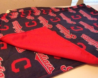 "Cleveland Indians cotton Baby Blanket size 30"" x 36"""