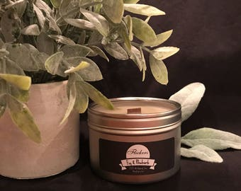 FIG & RHUBARB ~ Soy Candle ~ Wood Wick ~ Hand-poured ~ 8oz