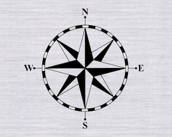 Compass SVG file, Compass rose svg, Nautical svg, marine svg, svg files for silhouette, cricut download, cutfile, dxf files