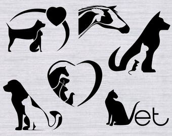 Veterinarian SVG bundle, Vet SVG, Animal svg, dog svg, pet svg, svg files for silhouette or cricut, dxf, clipart, vector, cricut cut files