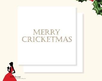 Merry Cricketmas Card, Christmas Card