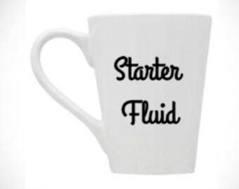 starter/fluid/coffee/mechanic/cup/gift/mug/giddy/up