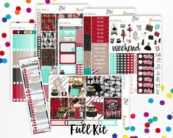 Retail Therapy- Vertical Weekly Kit planner stickers- Shopping, Black Friday