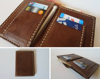 Handmade Leather men's wallet/identity card/gift for him