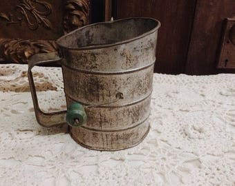 Antique Sifter Green Handle
