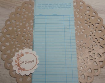 Library Reserve Book Card