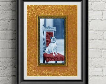 Dog Art Print | Pug | Pug Lover | Royal | Pop Wall Art | 5x7 | 8x10 | 11x14 | 24x36