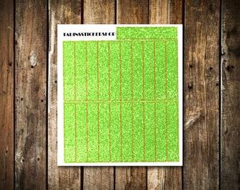 21 Apple Green Glitter Headers - Fits Erin Condren Vertical & Happy Planner