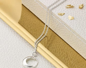 Molly B London™ Sterling Silver Waning Moon Necklace
