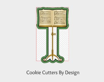 Music Stand Cookie Cutter / 3D Cookie Cutters