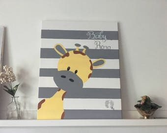 Baby Canvas Sign
