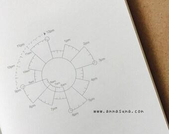 Chronodex Standard Traveler's Notebook Insert, Time Planner TN, TN Daily Refill, Traveler's Journal, Bullet Journal, Planner Inserts