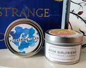 Book Boyfriend & Girlfriend Set | Soy Candle |  Book Candle | Book Lover Gift | Flickering Tales