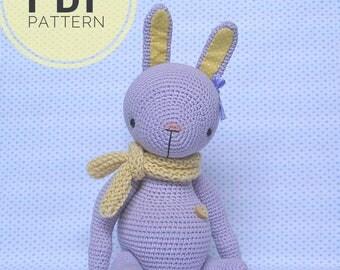 pdf, pattern,  pdf pattern, bunny, crochet bunny, amigurumi bunny