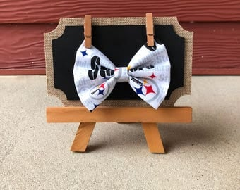 Pittsburgh Steelers Bow, Steelers Hair bow, Steelers Bow Tie, Steelers Dog Bow, Steelers Dog Bow Tie, Dog bow tie