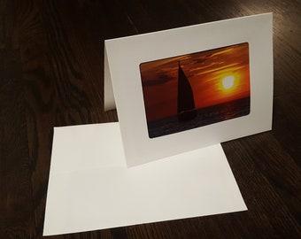 Blank Card - Sailboat at Sunset