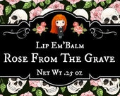 """Lip Gloss """"Rose From the Grave"""", Passionfruit Rose Lip Gloss"""